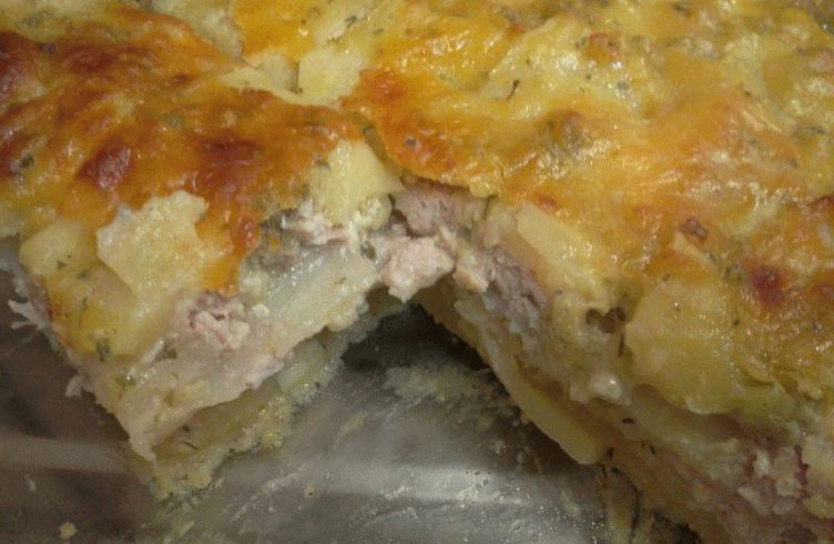 Запеканка с картошкой и мясом рецепт с пошагово в духовке