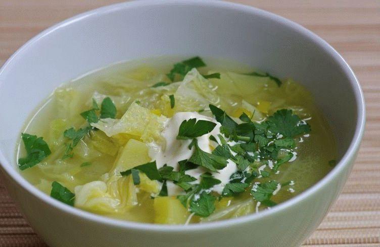 щи вегетарианские из свежей капусты рецепт