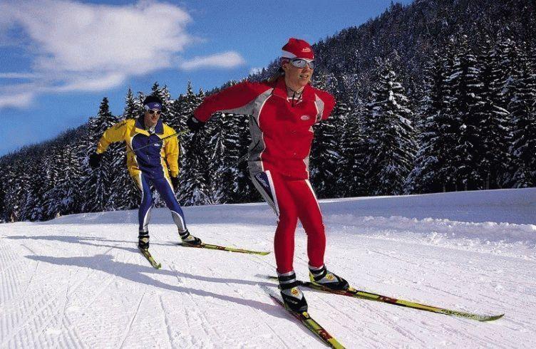 елочка на лыжах