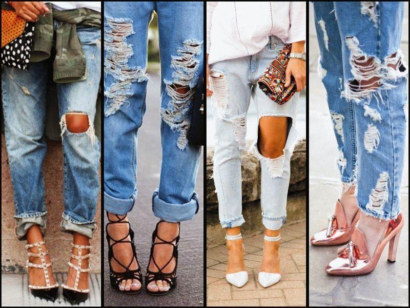 Как сделать джинсы рваными 2017 954