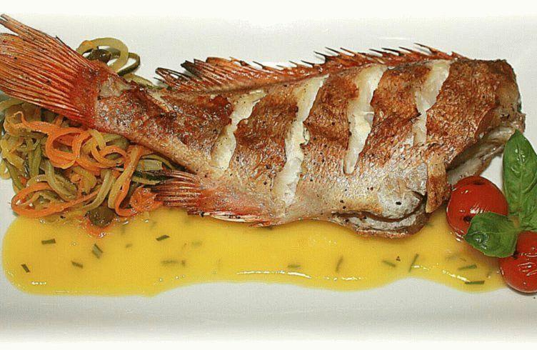 Морской окунь, запеченный в духовке Видео рецепт смотреть онлайн.