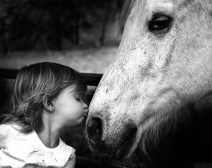 children_and_animals_black_and_white-14